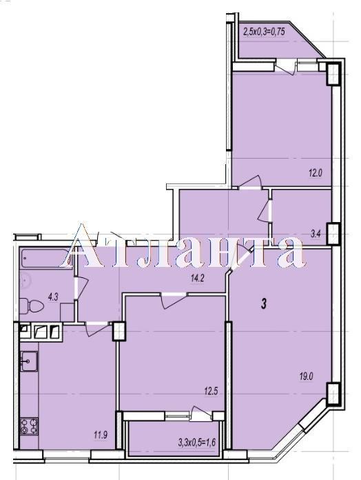 Продается 3-комнатная квартира в новострое на ул. Балковская — 55 510 у.е. (фото №3)