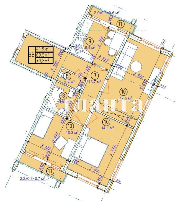 Продается 3-комнатная квартира в новострое на ул. Фонтанская Дор. — 54 870 у.е. (фото №6)