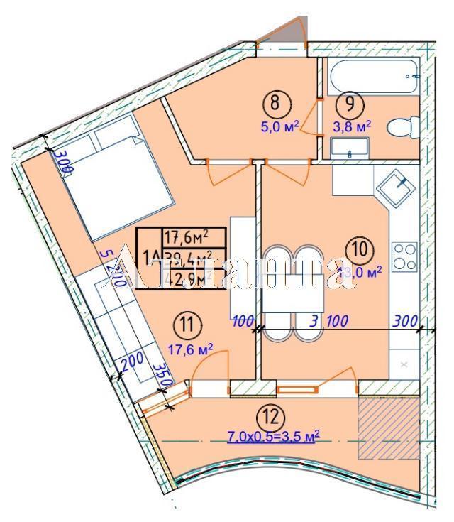 Продается 1-комнатная квартира в новострое на ул. Фонтанская Дор. — 32 180 у.е. (фото №5)