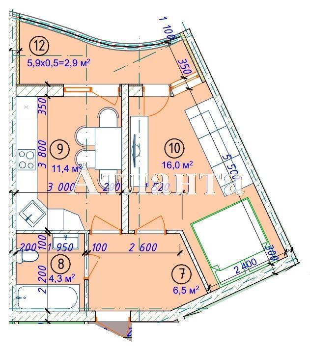 Продается 2-комнатная квартира в новострое на ул. Фонтанская Дор. — 47 630 у.е. (фото №5)