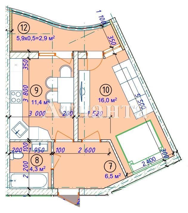 Продается 1-комнатная квартира в новострое на ул. Фонтанская Дор. — 30 200 у.е. (фото №5)