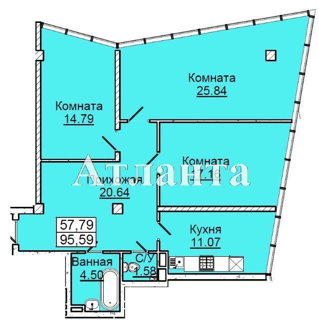 Продается 3-комнатная квартира в новострое на ул. Фонтанская Дор. — 121 120 у.е. (фото №7)