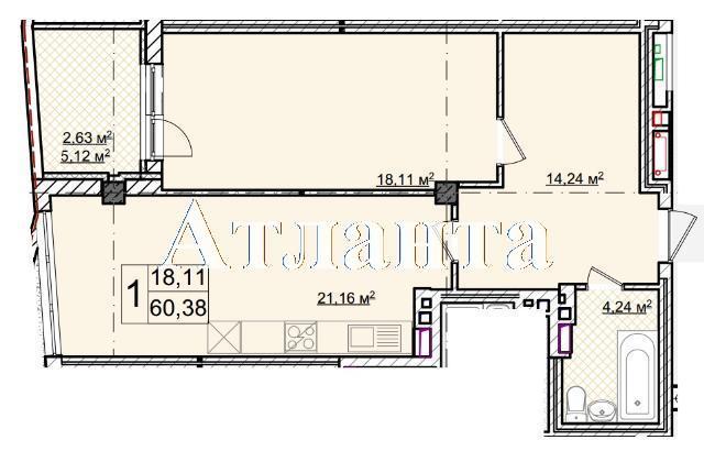 Продается 1-комнатная квартира в новострое на ул. Фонтанская Дор. — 72 460 у.е.