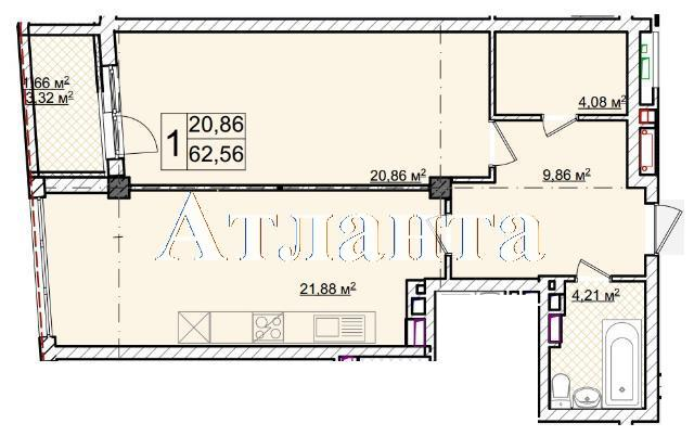 Продается 1-комнатная квартира в новострое на ул. Фонтанская Дор. — 68 820 у.е. (фото №7)