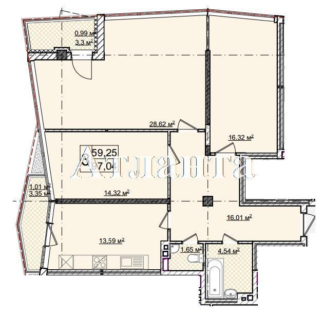 Продается 3-комнатная квартира в новострое на ул. Фонтанская Дор. — 135 860 у.е.