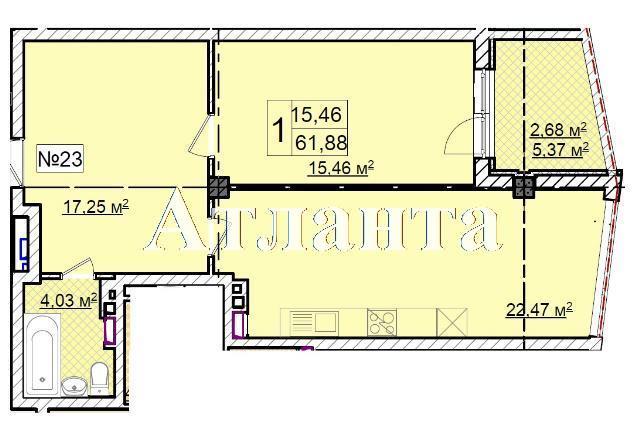Продается 1-комнатная квартира в новострое на ул. Фонтанская Дор. — 88 180 у.е. (фото №7)