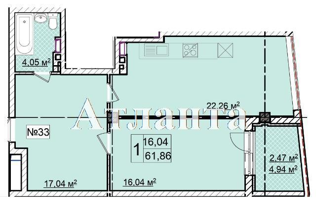 Продается 1-комнатная квартира в новострое на ул. Фонтанская Дор. — 68 050 у.е.