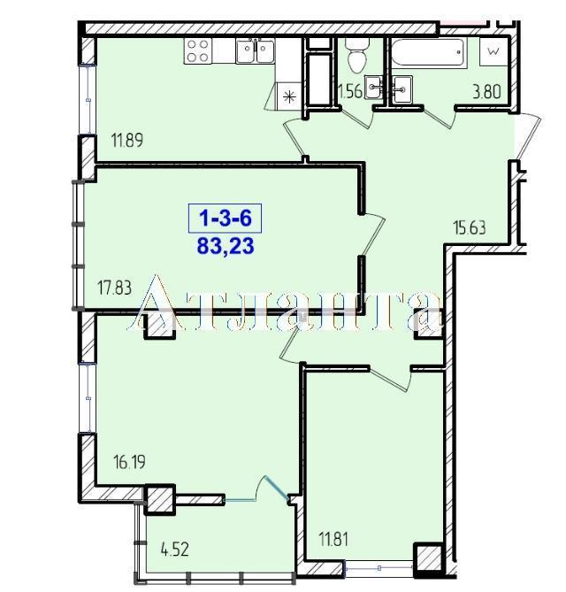 Продается 3-комнатная квартира в новострое на ул. Жм Дружный — 48 550 у.е. (фото №8)