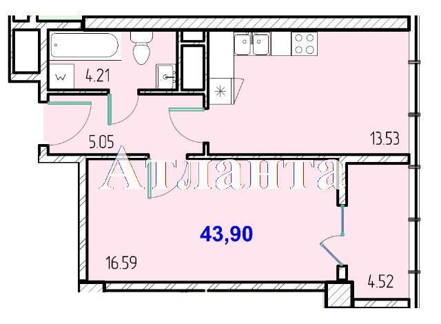 Продается 1-комнатная квартира в новострое на ул. Жм Дружный — 26 730 у.е. (фото №8)