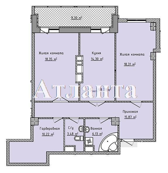 Продается 2-комнатная квартира в новострое на ул. Фонтанская Дор. — 59 270 у.е. (фото №7)
