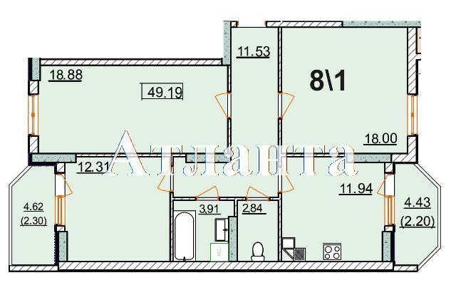 Продается 2-комнатная квартира в новострое на ул. Левитана — 70 000 у.е. (фото №5)