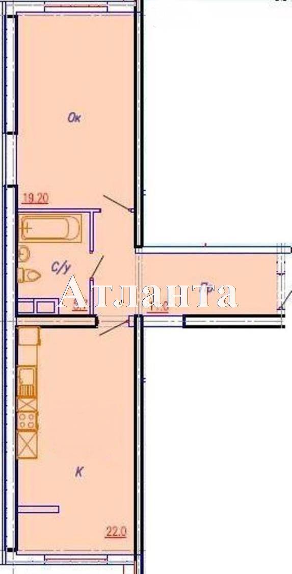 Продается 1-комнатная квартира в новострое на ул. Аркадиевский Пер. — 85 000 у.е. (фото №5)