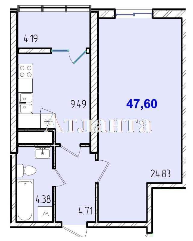 Продается 1-комнатная квартира в новострое на ул. Жм Дружный — 28 980 у.е.