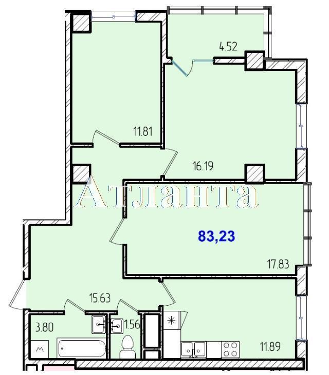 Продается 3-комнатная квартира в новострое на ул. Жм Дружный — 48 220 у.е. (фото №8)