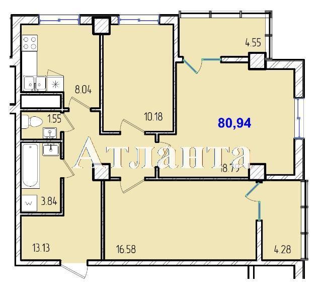 Продается 3-комнатная квартира в новострое на ул. Жм Дружный — 46 890 у.е. (фото №8)