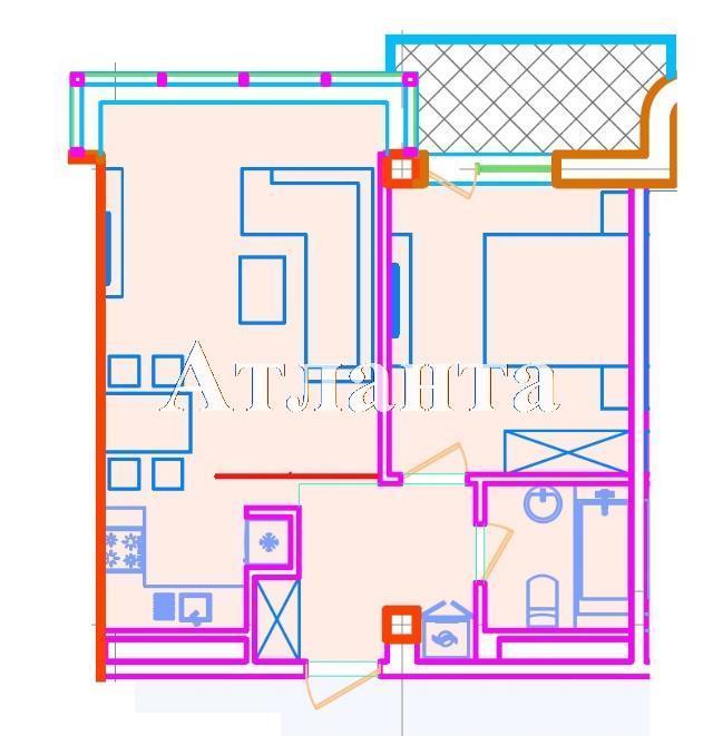 Продается 1-комнатная квартира в новострое на ул. Азарова Вице Адм. — 76 400 у.е. (фото №3)