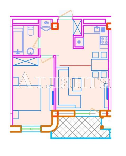 Продается 1-комнатная квартира в новострое на ул. Азарова Вице Адм. — 72 100 у.е. (фото №3)