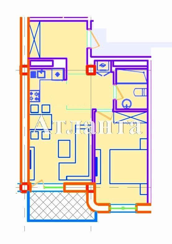 Продается 1-комнатная квартира в новострое на ул. Азарова Вице Адм. — 74 430 у.е. (фото №3)