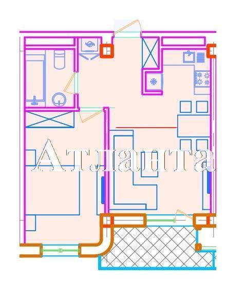 Продается 1-комнатная квартира в новострое на ул. Азарова Вице Адм. — 79 450 у.е. (фото №3)