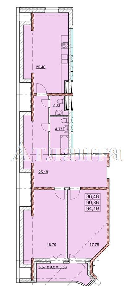 Продается 2-комнатная квартира в новострое на ул. Гагаринское Плато — 75 430 у.е. (фото №4)