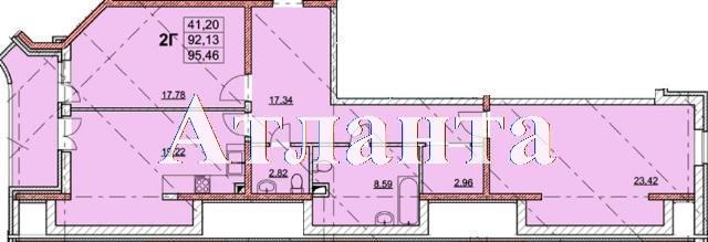 Продается 2-комнатная квартира в новострое на ул. Гагаринское Плато — 91 670 у.е. (фото №3)