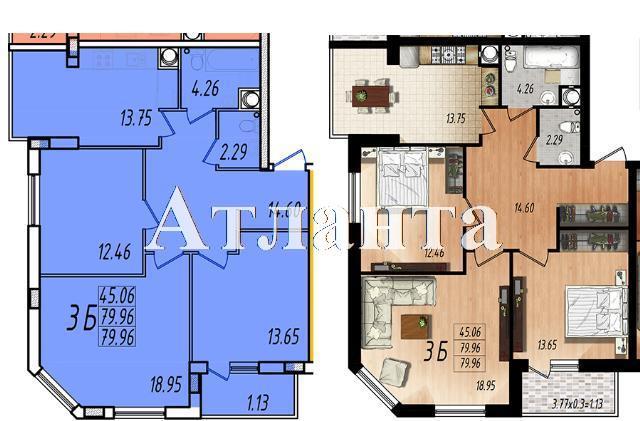 Продается 3-комнатная квартира в новострое на ул. Жм Дружный — 44 380 у.е. (фото №7)