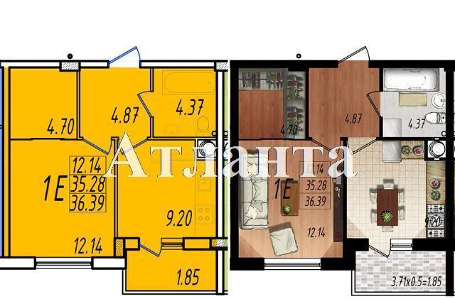 Продается 1-комнатная квартира в новострое на ул. Жм Дружный — 21 650 у.е. (фото №7)