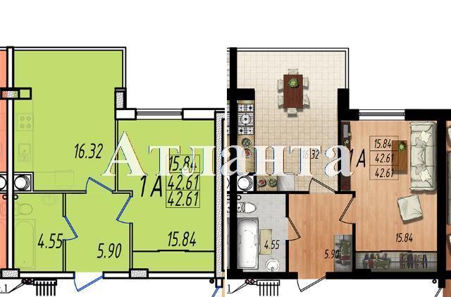Продается 1-комнатная квартира в новострое на ул. Жм Дружный — 25 350 у.е. (фото №7)