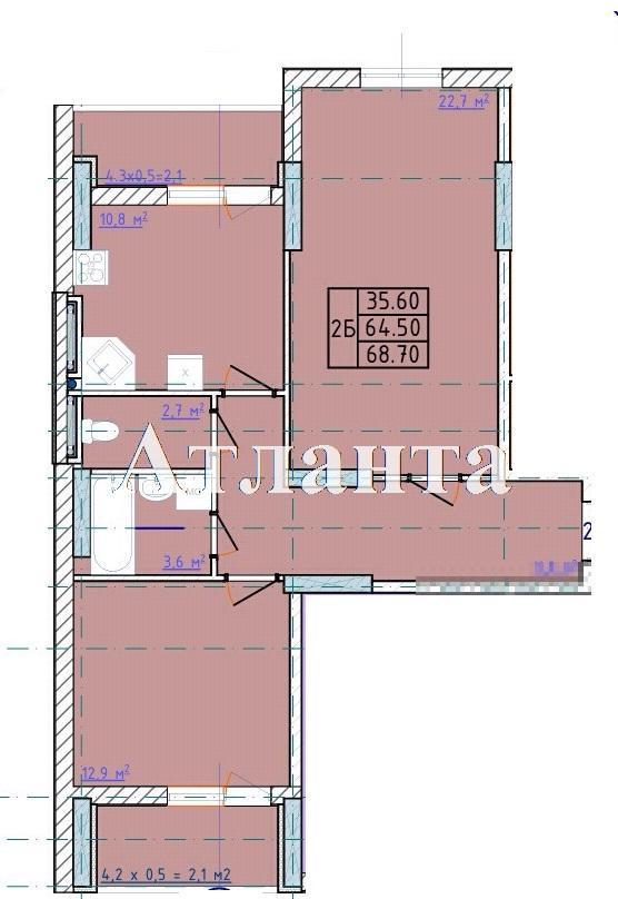 Продается 2-комнатная квартира в новострое на ул. Левитана — 45 500 у.е. (фото №9)