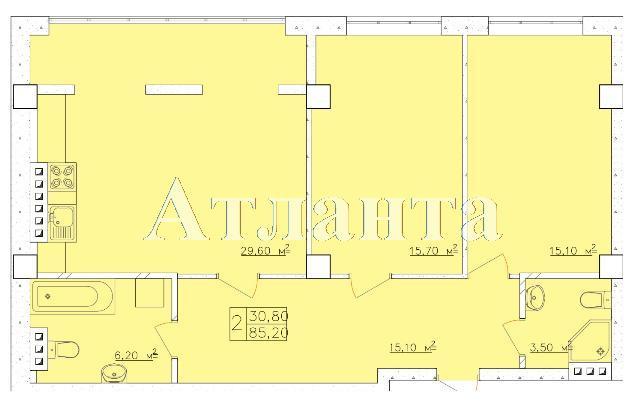 Продается 2-комнатная квартира на ул. Дача Ковалевского — 55 380 у.е. (фото №4)