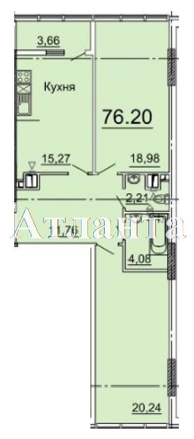 Продается 2-комнатная квартира в новострое на ул. Фонтанская Дор. — 66 780 у.е. (фото №5)