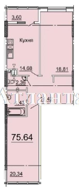 Продается 2-комнатная квартира в новострое на ул. Фонтанская Дор. — 67 880 у.е. (фото №8)