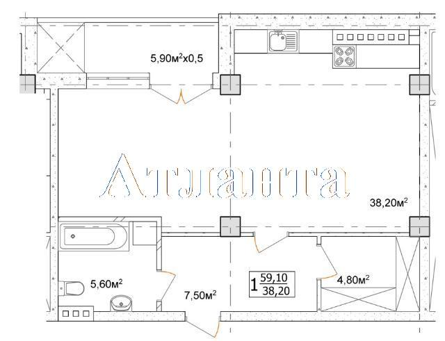 Продается 1-комнатная квартира в новострое на ул. Дача Ковалевского — 38 420 у.е. (фото №4)