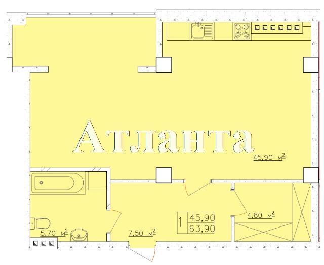 Продается 1-комнатная квартира в новострое на ул. Дача Ковалевского — 41 540 у.е. (фото №4)