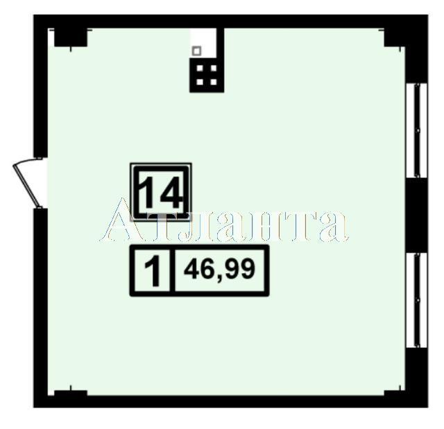 Продается 1-комнатная квартира в новострое на ул. Генуэзская — 44 640 у.е.