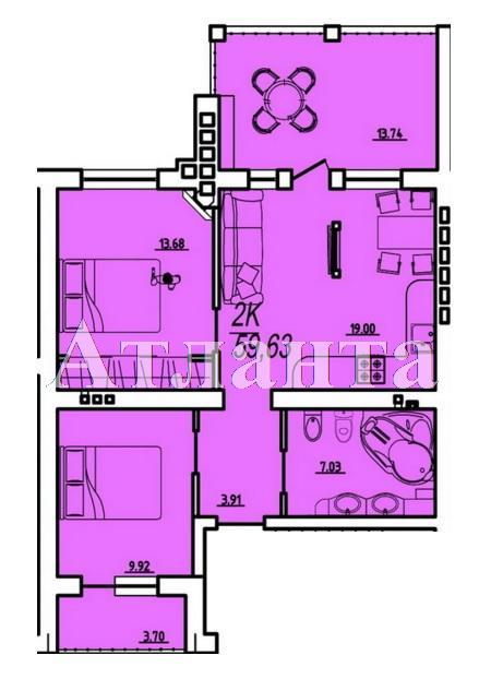 Продается 2-комнатная квартира в новострое на ул. Парковая — 26 840 у.е. (фото №4)