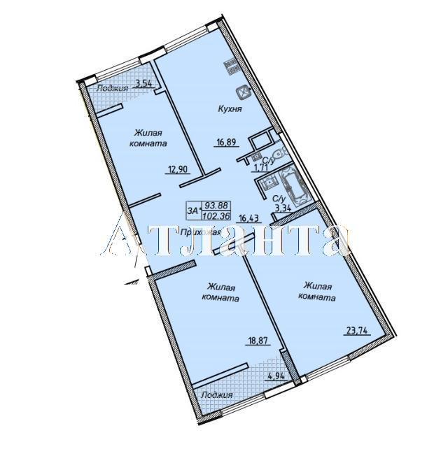 Продается 3-комнатная квартира в новострое на ул. Каманина — 83 490 у.е. (фото №5)