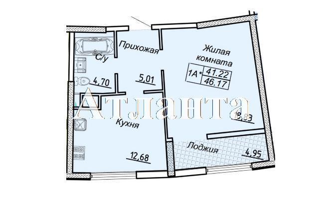 Продается 1-комнатная квартира в новострое на ул. Каманина — 37 680 у.е.
