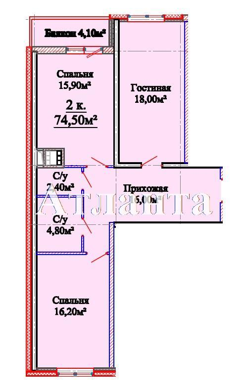 Продается 2-комнатная квартира в новострое на ул. Михайловская — 50 400 у.е. (фото №4)