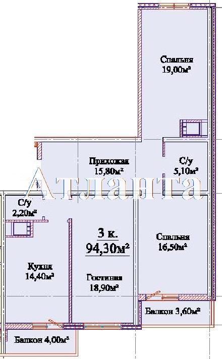 Продается 3-комнатная квартира в новострое на ул. Михайловская — 64 610 у.е.