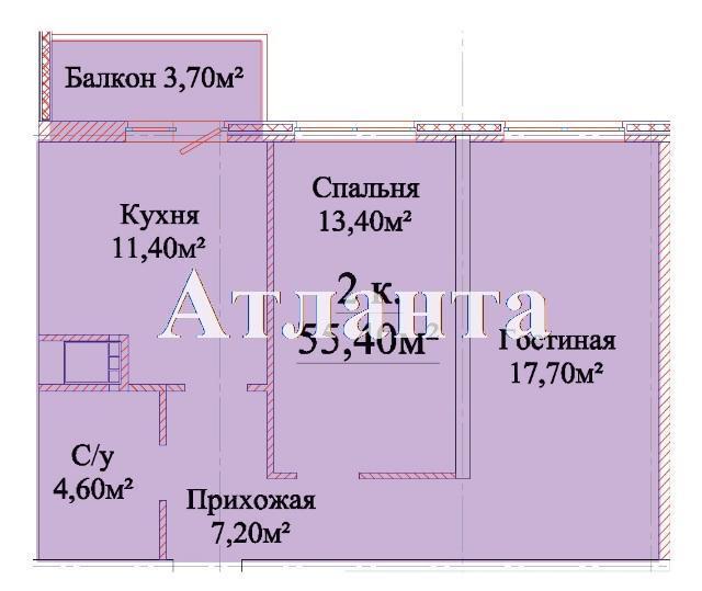 Продается 2-комнатная квартира в новострое на ул. Михайловская — 37 400 у.е. (фото №4)