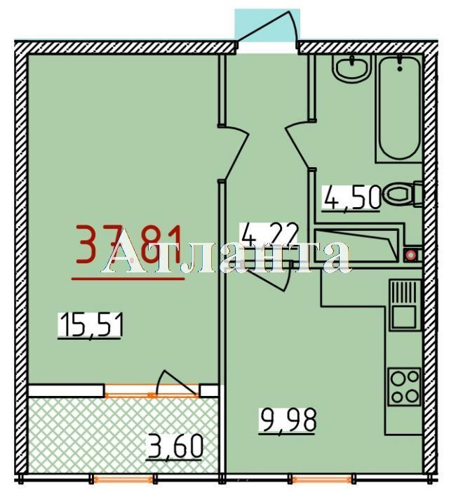 Продается 1-комнатная квартира в новострое на ул. Бассейная — 22 190 у.е.