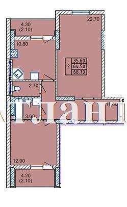 Продается 2-комнатная квартира в новострое на ул. Левитана — 44 000 у.е. (фото №3)