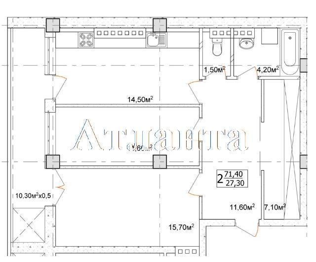 Продается 2-комнатная квартира в новострое на ул. Дача Ковалевского — 53 550 у.е. (фото №4)