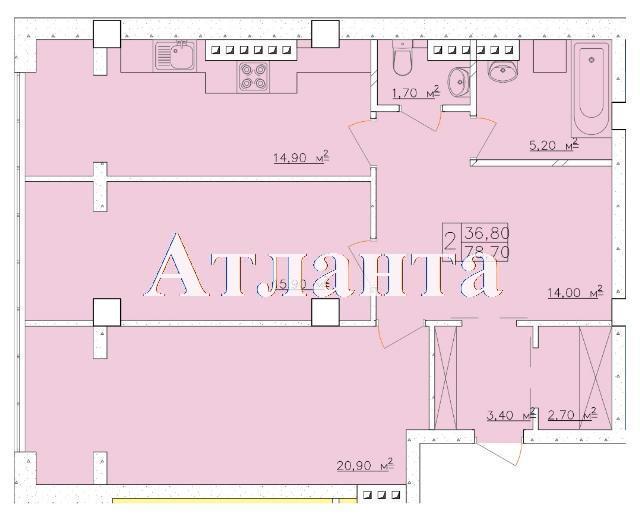 Продается 2-комнатная квартира на ул. Дача Ковалевского — 59 030 у.е. (фото №4)
