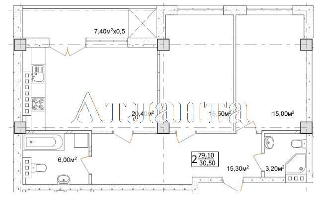 Продается 2-комнатная квартира в новострое на ул. Дача Ковалевского — 51 420 у.е.