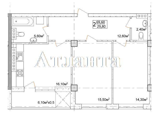 Продается 2-комнатная квартира в новострое на ул. Дача Ковалевского — 45 240 у.е. (фото №4)