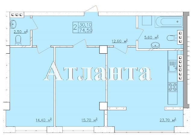 Продается 2-комнатная квартира в новострое на ул. Дача Ковалевского — 48 430 у.е. (фото №4)