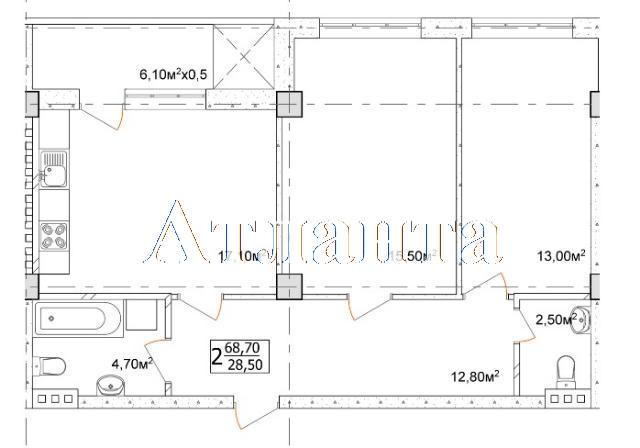 Продается 2-комнатная квартира в новострое на ул. Дача Ковалевского — 48 090 у.е.