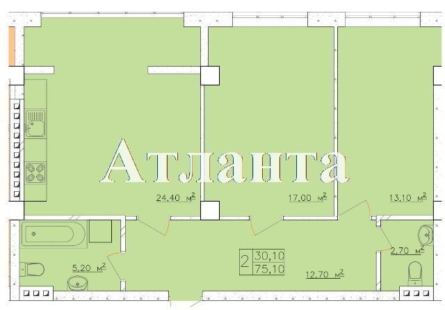 Продается 2-комнатная квартира в новострое на ул. Дача Ковалевского — 52 570 у.е. (фото №4)